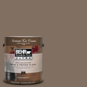 #UL160-21 Mocha Latte Interior Flat Gallon Paint-175301 at The Home Depot- bathroom color #2