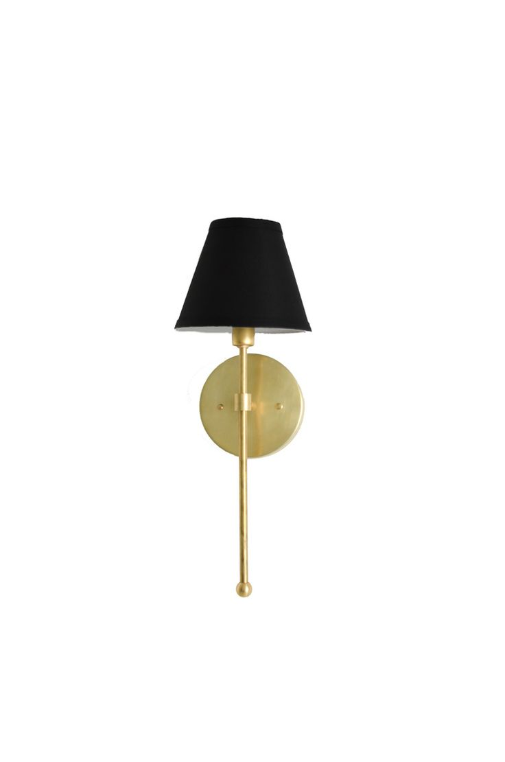 95 best sconce lighting images on pinterest sconce lighting industrial brass shaded light sconce with black linen shade ul listed vivianne amipublicfo Image collections