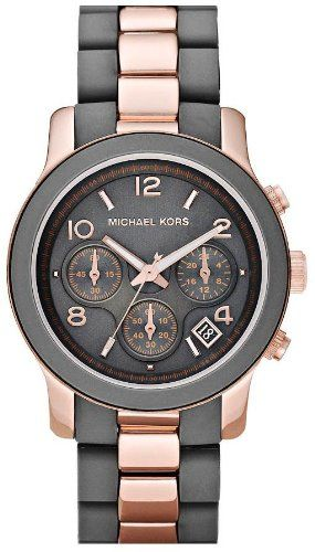 Michael Kors Women's MK5465 Runway Grey & Rose Gold-Tone Stainless Steel Watch: Watches: Amazon.com