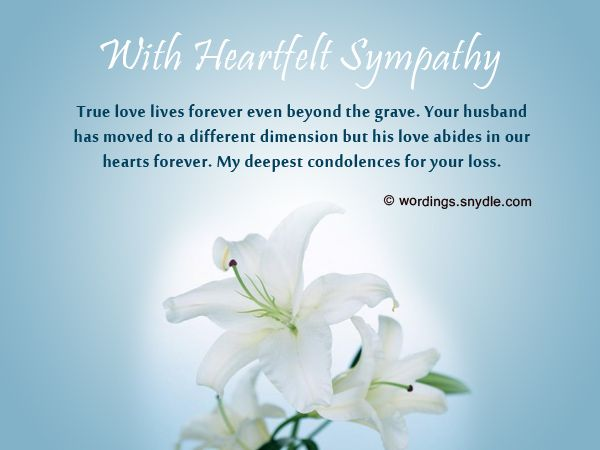 Sympathy Messages For Loss Of Husband Wordings And