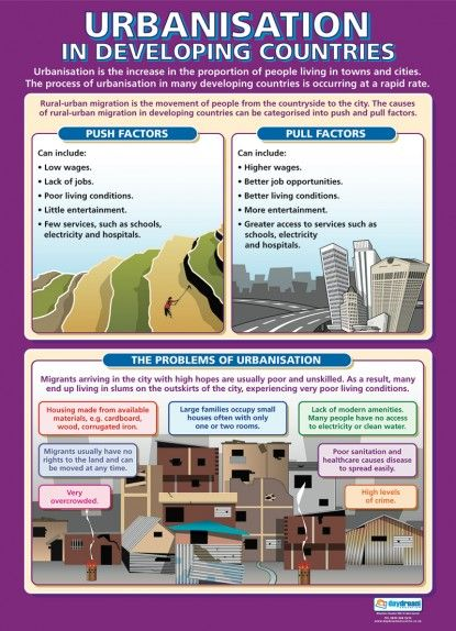 Urbanisation in Developing Countries Poster