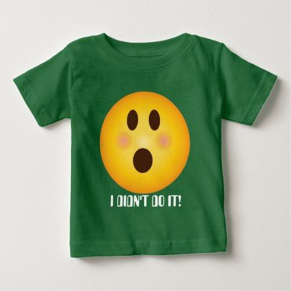 #Shocked Emoji add text baby bodysuit t-shirt - #emoji #emojis #smiley #smilies