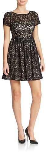 $240, ABS by Allen Schwartz Lace Fit And Flare Dress. Sold by Lord
