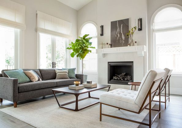 Sofa and chairs from Mitchell Gold + Bob Williams; Sierra Rug by Room & Board.