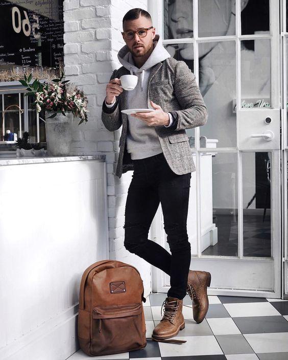 Botas Masculinas. Macho Moda - Blog de Moda Masculina: Bota Masculina: 5 Modelos que estão em alta pra 2017. Moda Masculina, Moda para Homens, Roupa de Homem, Bota Brogue, Brogue Boot, Mochila Backpack, Calça Skinny, Blazer Sobreposição de Peças, Moletom de Capuz