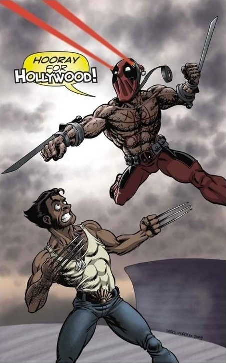 I can totally picture Deadpool doing this after seeing the movie... This is the most beautiful thing I've ever seen, after a chimichanga!