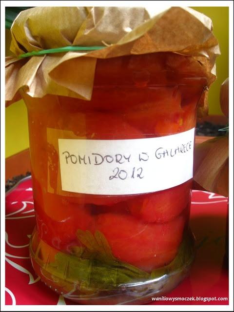 Pomidory w galarecie do słoiczka...czyli smak lata w zimie;)