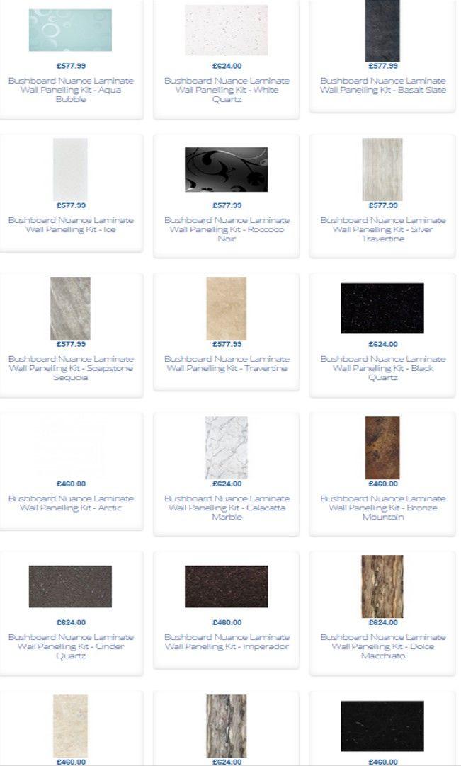 Bushboard Nuance Laminate Wall Panelling Kits for Wetrooms   Bathrooms. 25 best Bushboard Nuance Laminate Wall Panelling images on