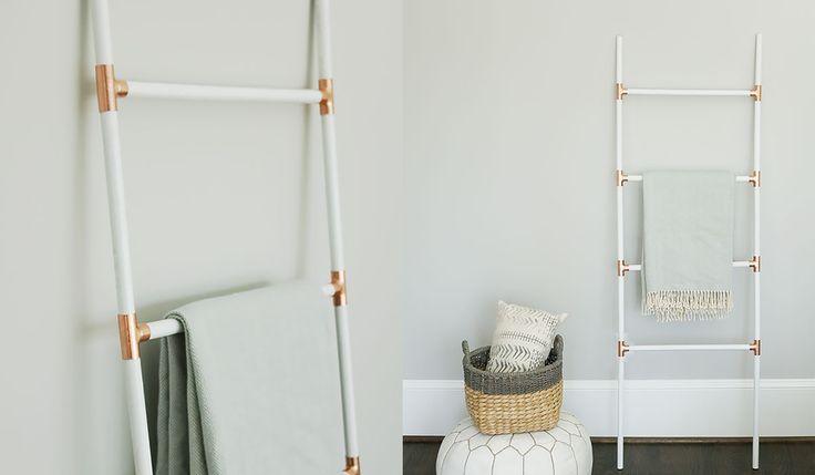 DIY Modern Blanket Ladder Eine der Möglichkeiten, um in das neue Jahr zu springen, ist …   – ванная