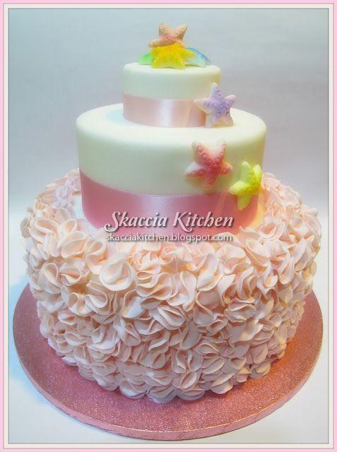 SKACCIA KITCHEN: Starfish baptism cake