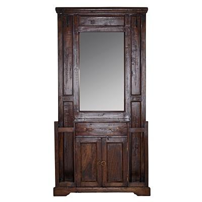 Dark Antique Hallway Vanity     was $1399.99 now $699.99   SKU 115442   34inches widex 92inches longx 180inches high