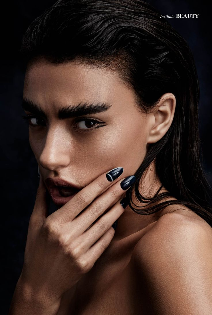 Midnight - Photographed by Joshua Pestk Makeup Hiro Yonemoto / Atelier Management Hair Damian Monzillo / Artmix Creative // using Davines  Nails Michina Koide from Minx Nails / art department Model Francesca / Wilhelmina