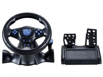 Volante com Pedal para PC/PS2/PS3 - Multilaser Racer 3 em 1