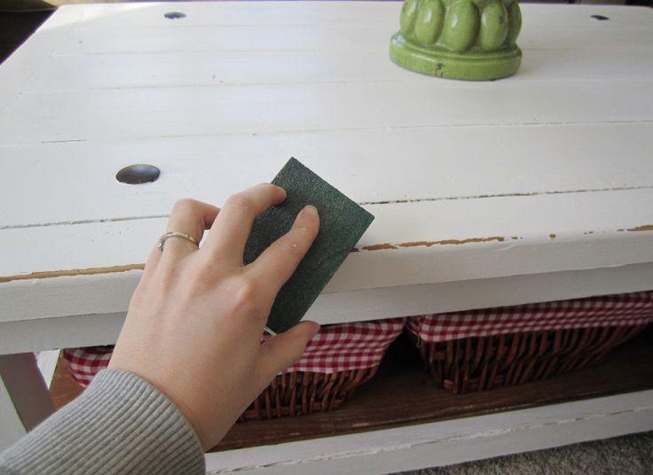 Técnica para envejecer un mueble - Pintar Sin Parar