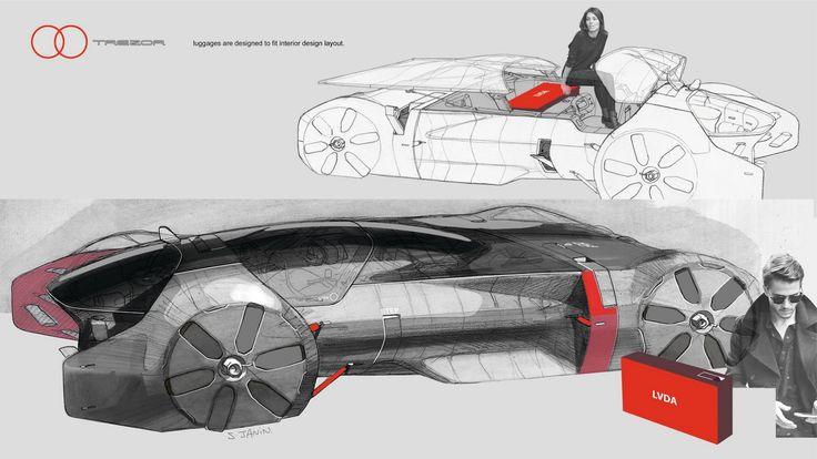 Renault Trezor Concept, 2016 - Design Sketch