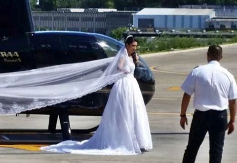 Total Horror! Wedding Bride Who Wanted To Surprise Hubby By Arriving Via Helicopter Dies In A Crash (Photos)                Rosemeire Silva Nascimento planned to arrive to her wedding in style in a helicopter  A 32-year-old wedding bride who planned to amaze her 34-year-old fiancé Udirley Narques Damasceno and their 300 guests with a stunning entrance by flying into the Recanto Beija-Flor venue in Sao Lourenco da Serra Sao Paulo in a helicopter crashed just few minutes before she was due to…