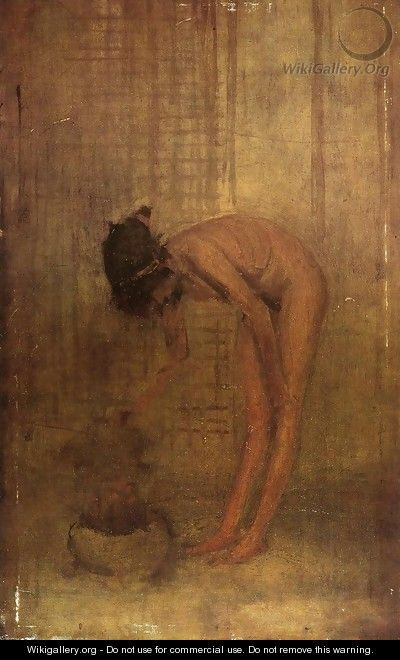 James Abbott McNeill Whistler - Nude girl with a bowle