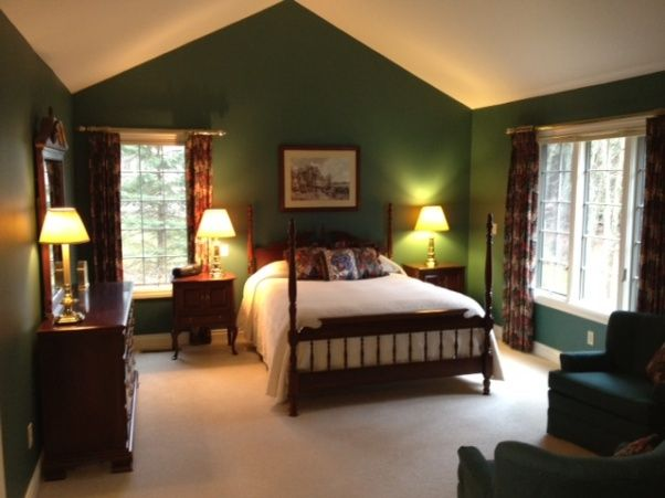 Dark Green Rooms Decorating Images