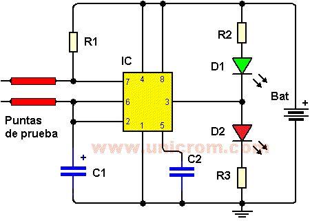Sensor de humedad diagrama video 1 ci 555 3 resistencias r1 r2 r3 de 1k 1 capacitor - Detector de humedad para suelos y paredes ...