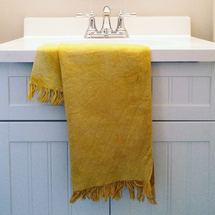 Natural Dye Hand Towel $35 | Living Threads Co.