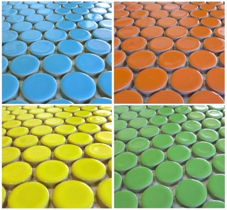 Our Most Popular Bathroom Floor Tile Idea Moddotz Porcelain Penny Round Tile In 4 New Brights