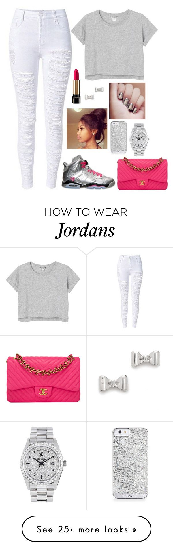 """Untitled #278"" by nun-for-free on Polyvore featuring moda, Retrò, Monki, Lancôme, Chanel, Marc by Marc Jacobs y Rolex"
