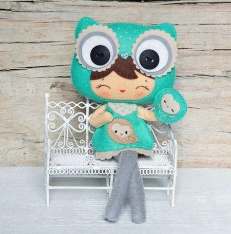 Felt Owl Girl