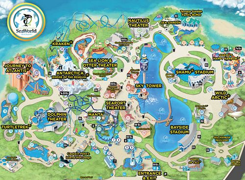 Sea World Orlando Map