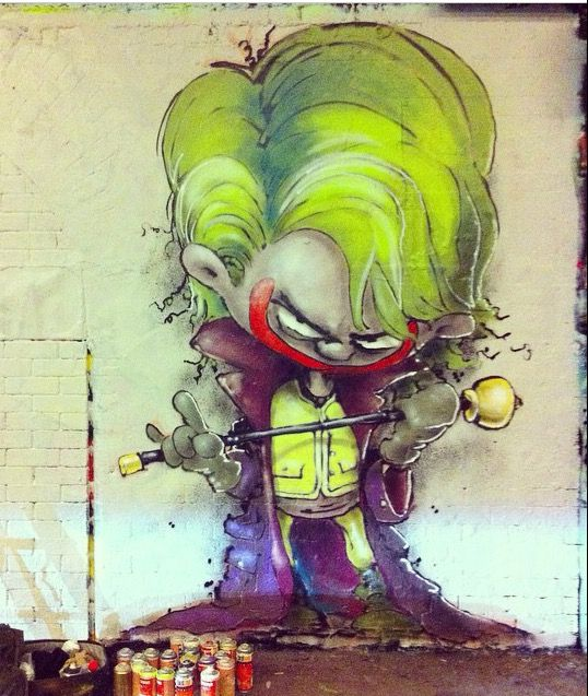 The Joker by #Parlee #ERZ, 11/14 (LP) #arturbain #Graffiti #fresque #art #artiste #streetartgalerie www.streetartgalerie.com