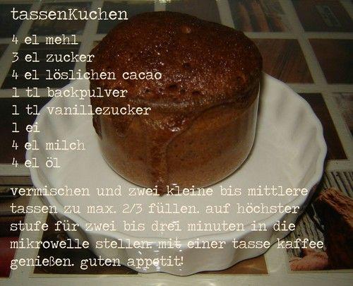 78 best images about tassenkuchen mugcakes on pinterest. Black Bedroom Furniture Sets. Home Design Ideas
