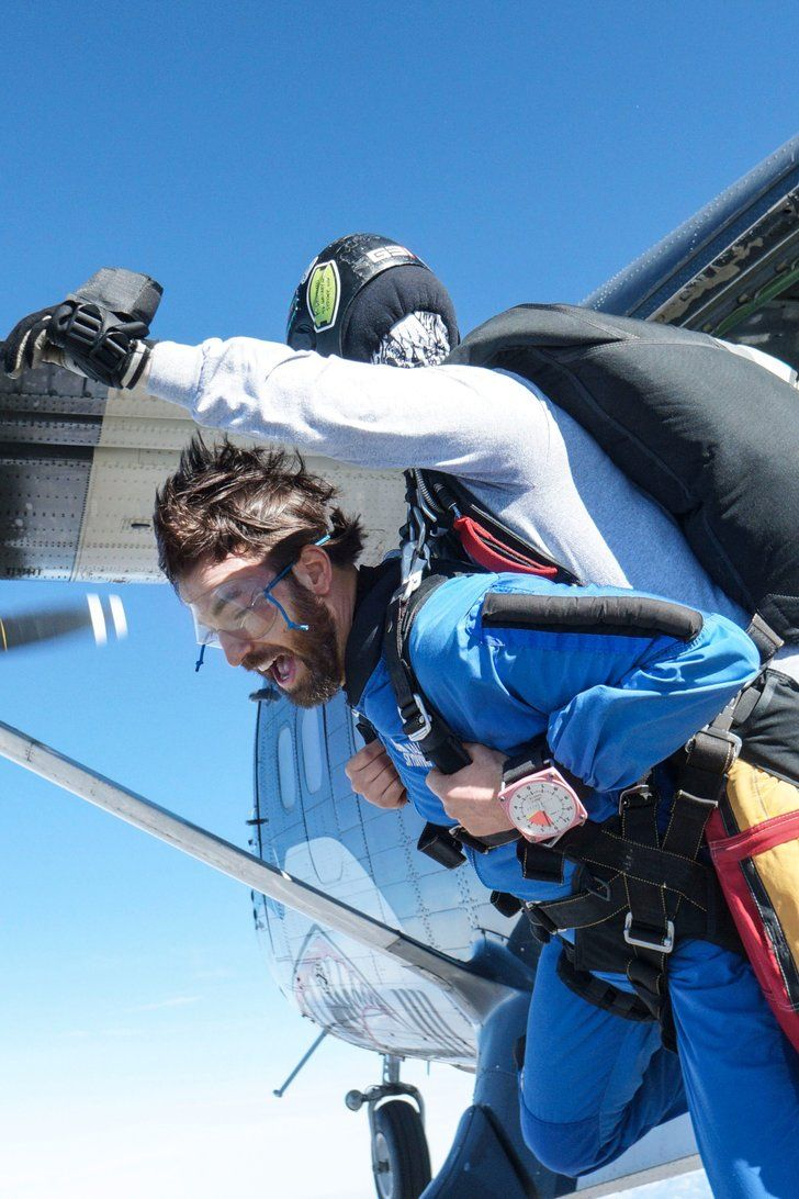 Chris Evans's Skydiving Video Will Only Intensify Your Fear of Heights