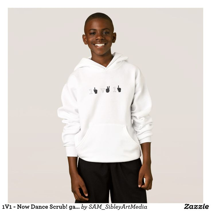 1V1 - Now Dance Scrub! gamers hoodie in white