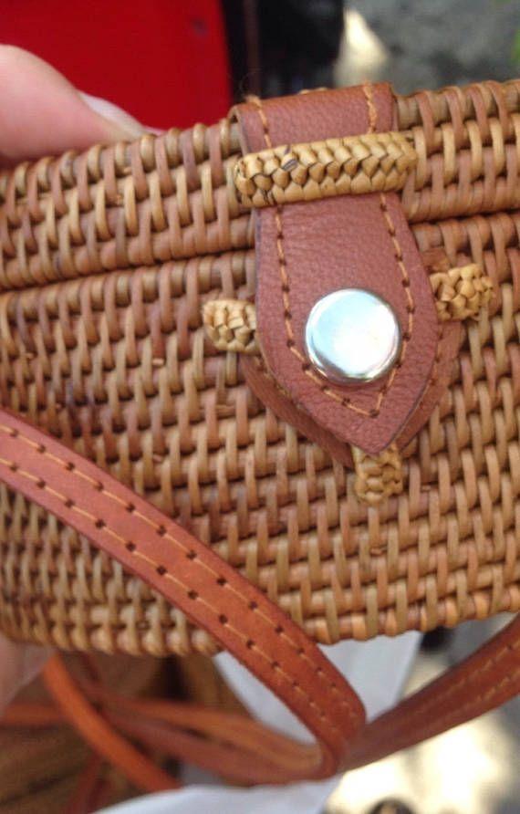 Tao round rattan bag round straw bag round shoulder bag