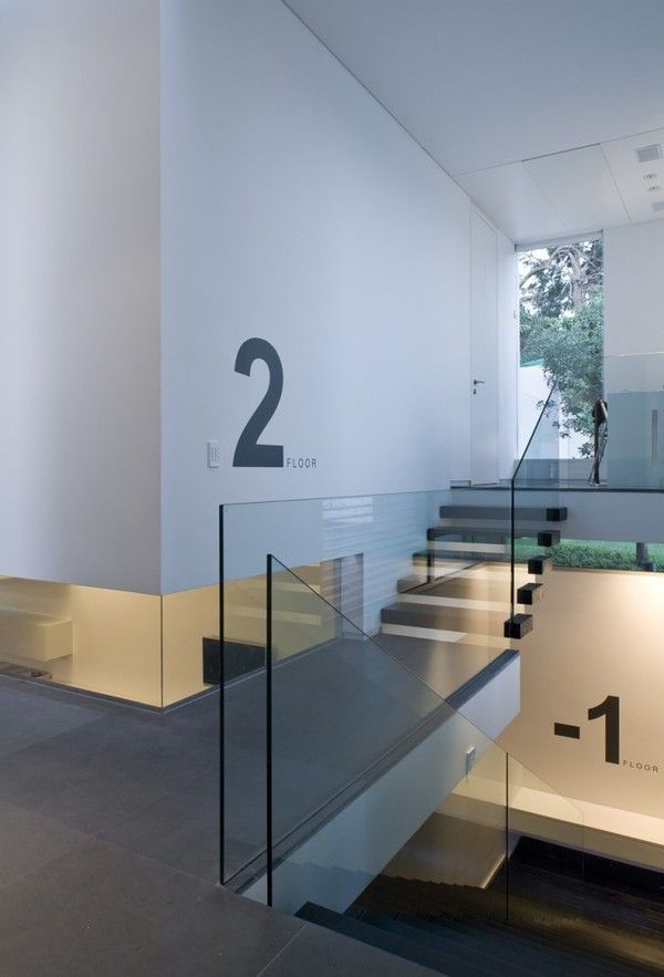 Numbered Stairwell. I love this idea