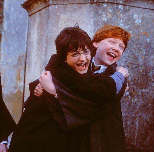 Harry and Ron! Thats so cute!