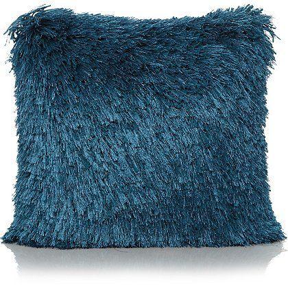 Shaggy Cushion - Blue | Home & Garden | George