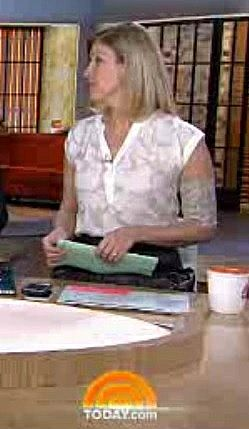PICC LINE COVER - NBC Today Show reporter Kristen Dahlgren wearing PICC Cover Fashions tm armband sleeve in 'Trellis Rose'  by Cast Cover Fashions(Dec 6, 2014).