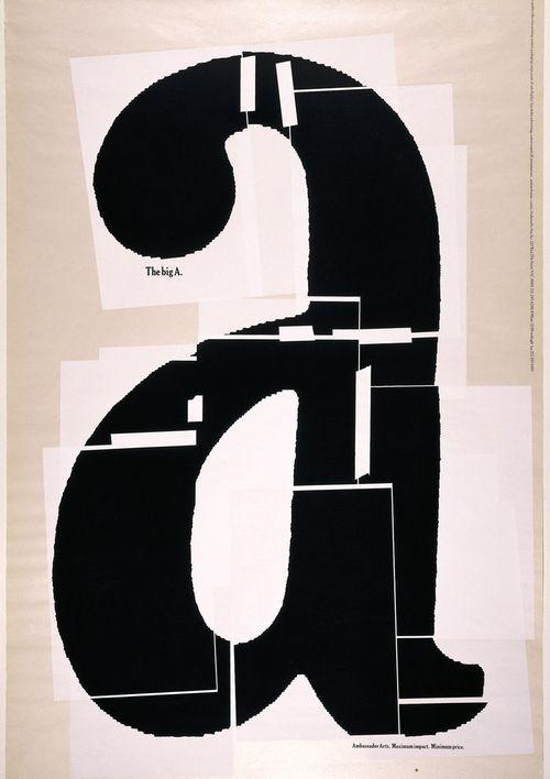 Paula Scher, Poster design The big a, 1991. Pentagram. Via Cooper Hewitt