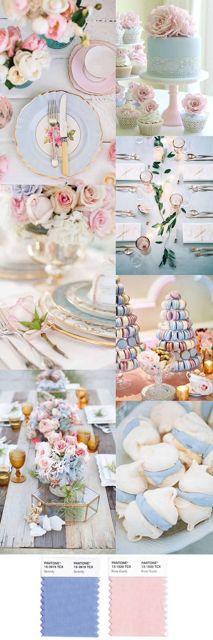 Pantone's Color of the Year 2016, Rose Quartz and Serenity Party Inspiration