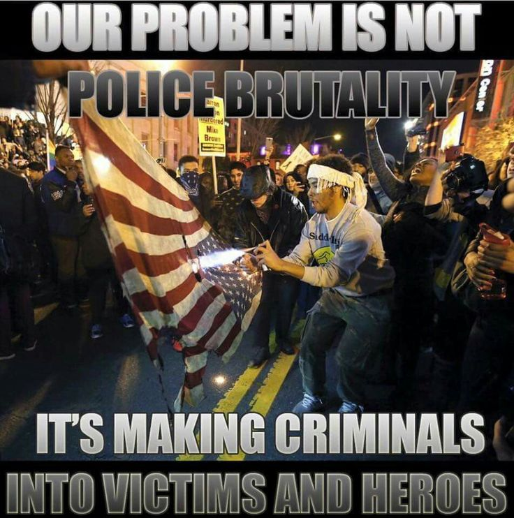Our problem is not police brutality...it's making CRIMINALS into victims and heroes !!!