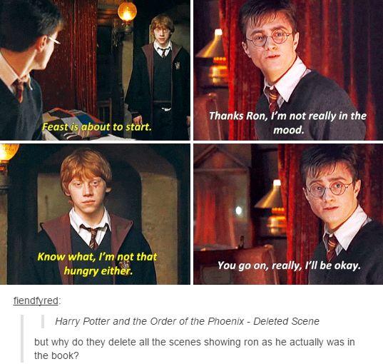 harry potter - deleted scene