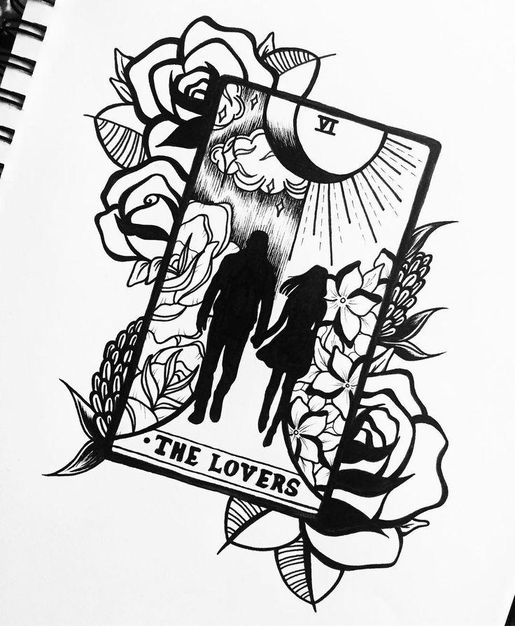 My version of the lovers tarot card tattoo tattoos