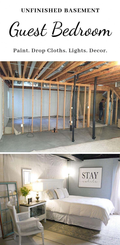 Unfinished Basement Guest Bedroom Unfinished basement