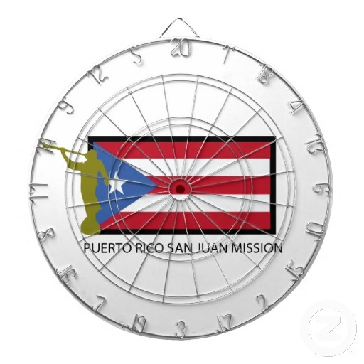 PUERTO RICO SAN JUAN MISSION LDS CTR DARTBOARD WITH DARTS