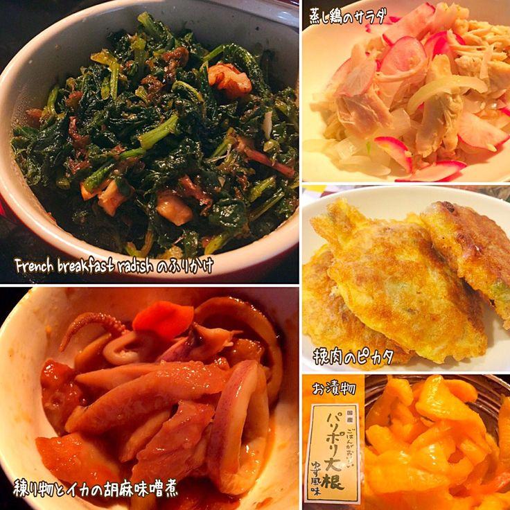 eris's dish photo 水曜日 一昨日 の晩御飯 | http://snapdish.co #SnapDish #レシピ #Dinner #Side dish #Main dish #Vegetable #Chicken