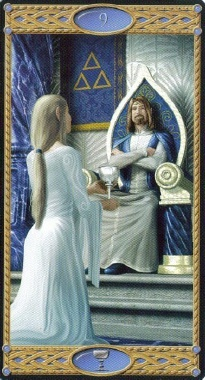 9 of Cups in Tarot of the Elves - Deck by Artist Davide Corsi and Writer Mark McElroy, © 2007 Lo ScarabeoMark Mcelroy, Decks, Things Tarot Oracle, David Corsi, Awesome Tarot, Collection Detarot, Cards Art, Plays Cards, Artists David