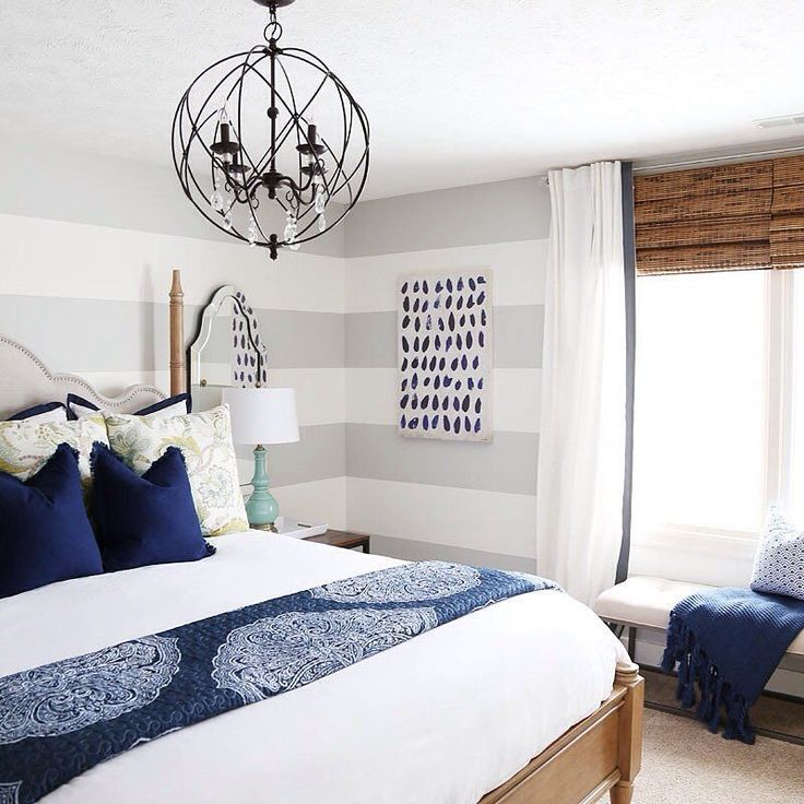 bedroom findeverything hayneedle homedecor Sarah of @lifeonvirginiastreet transforms a bland guestroom into a beachy, serene retreat. Check out the blog to see the full transformation!