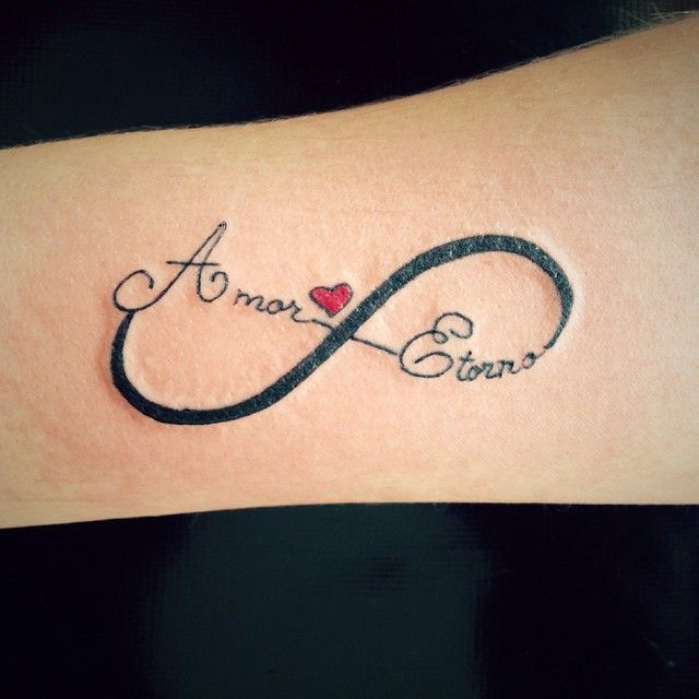 Pin for Later: 11 Love Tattoos in Spanish You're Going to Want to Get Amor Eterno Translation: eternal love