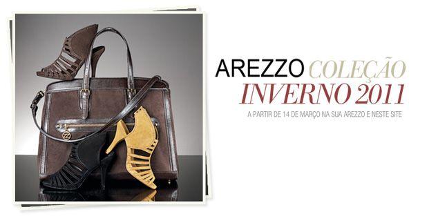 Anos 70 é a cara da nova coleção Arezzo inverno 2011, cheia de novidades, a marca que é conhecida pela tradição em calçados confortáveis e de excelente