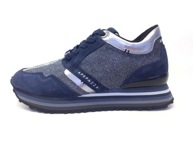 topschuhe24 Sneaker donna, Blu (blu), 38
